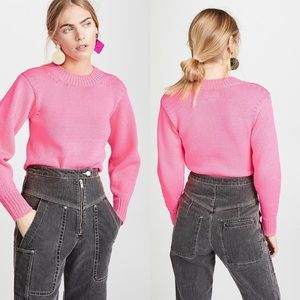Isabel Marant Etoile | Hot Pink Zino Knit Sweater